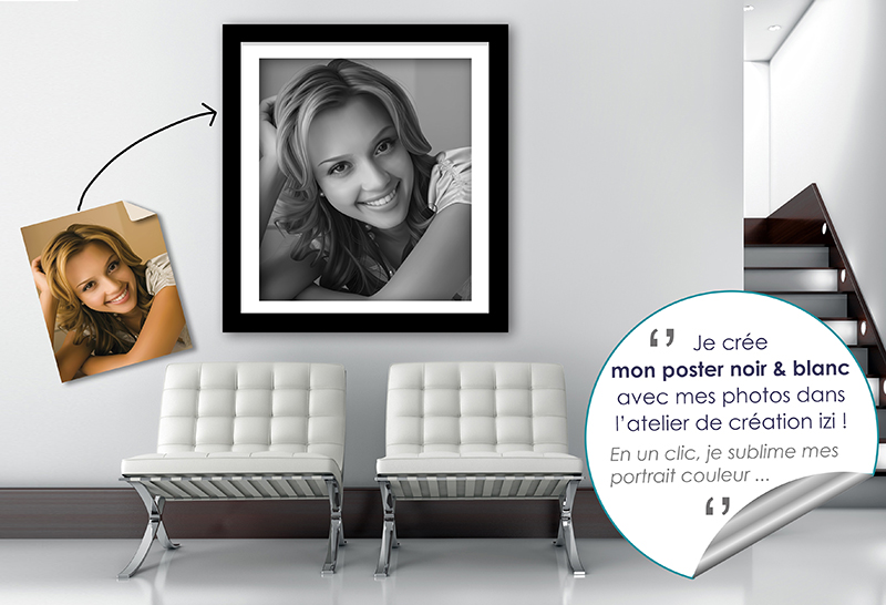 POSTER PHOTO NOIR ET BLAN