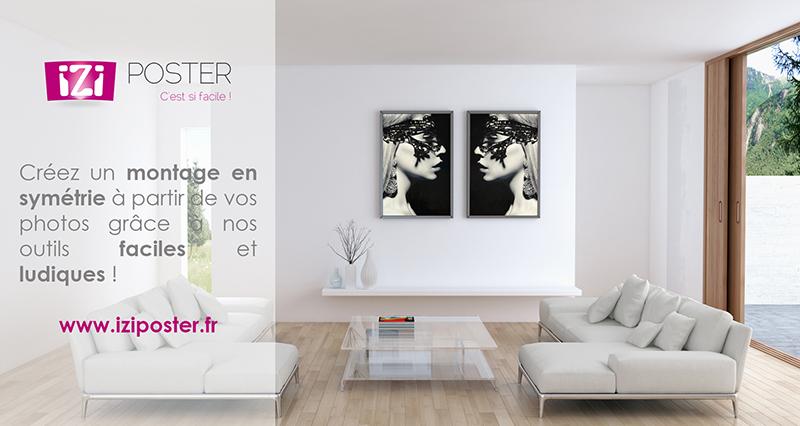 créer un poster en symétrie avec vos images