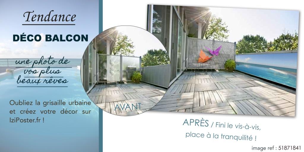 poster imprimé pour balcon et terrasse