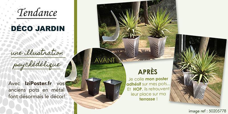 customisation d'anciens pots avec le poster adhésif