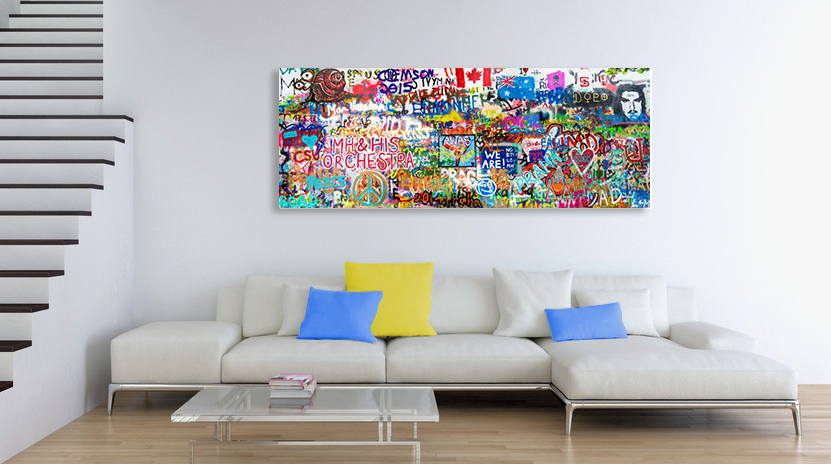 offrez un tableau photo street art. Black Bedroom Furniture Sets. Home Design Ideas