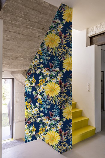 Papier peint adhésif YELLOW FLOWER 120x260 cm