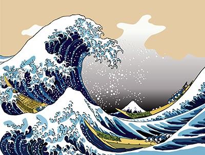 Papier-peint adhésif THE WAVE 360x260 cm