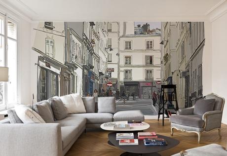 Fresque murale toile écologique RUE DE PARIS