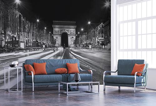 Papier-peint textile adhésif PARIS by NIGHT