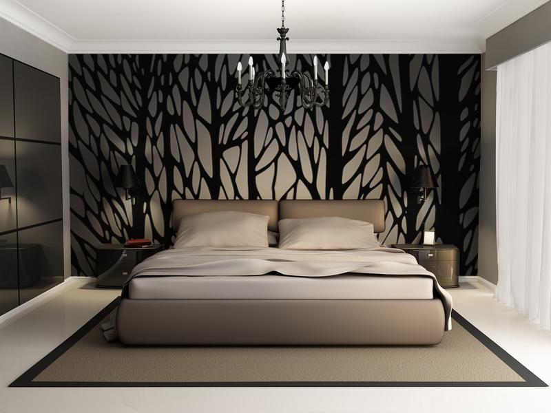 Papier peint adhésif textile BLACK FOREST