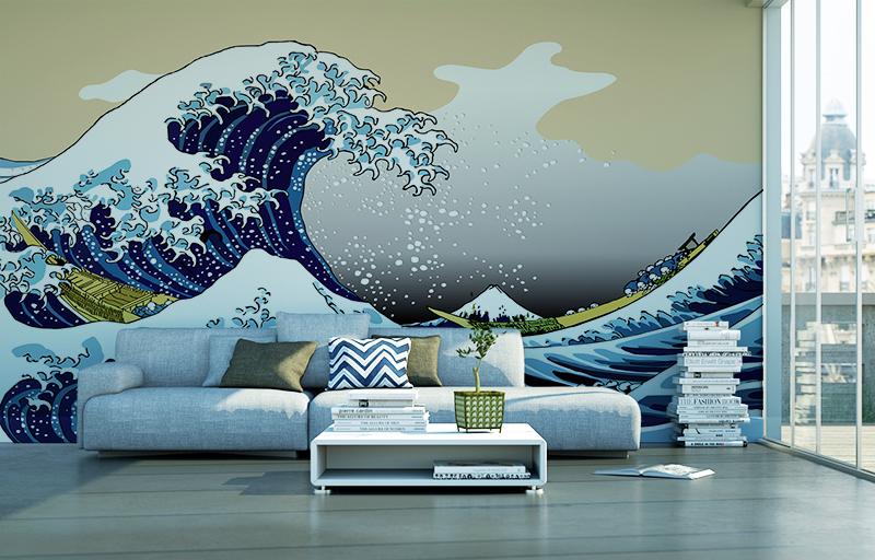 Papier peint adhésif THE WAVE