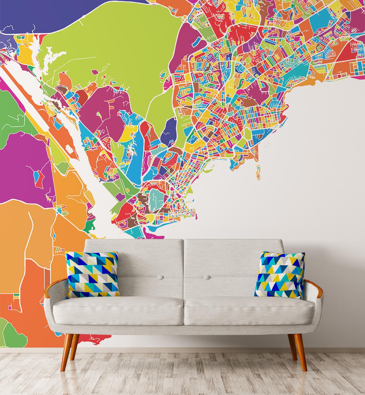 Papier-peint adhésif PANAMA CITY MAP