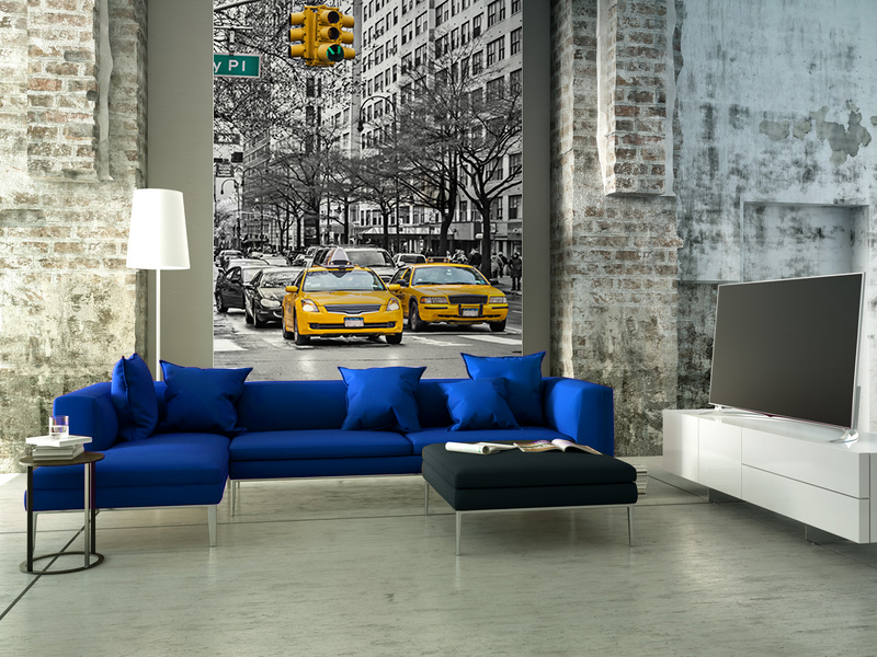 poster mural geant good comment decorer un hotel scenolia deco new york poster panoramique head. Black Bedroom Furniture Sets. Home Design Ideas