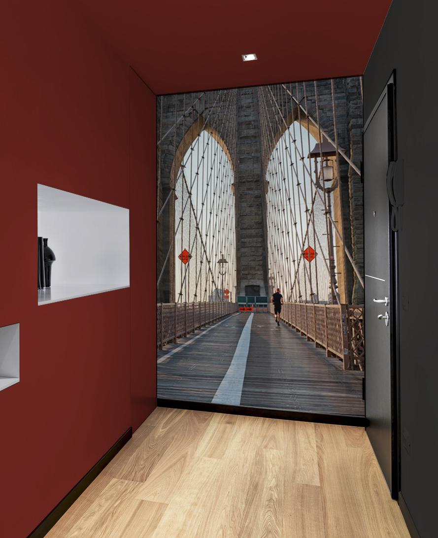 Papier peint adhésif textile Brooklyn bridge panoramique