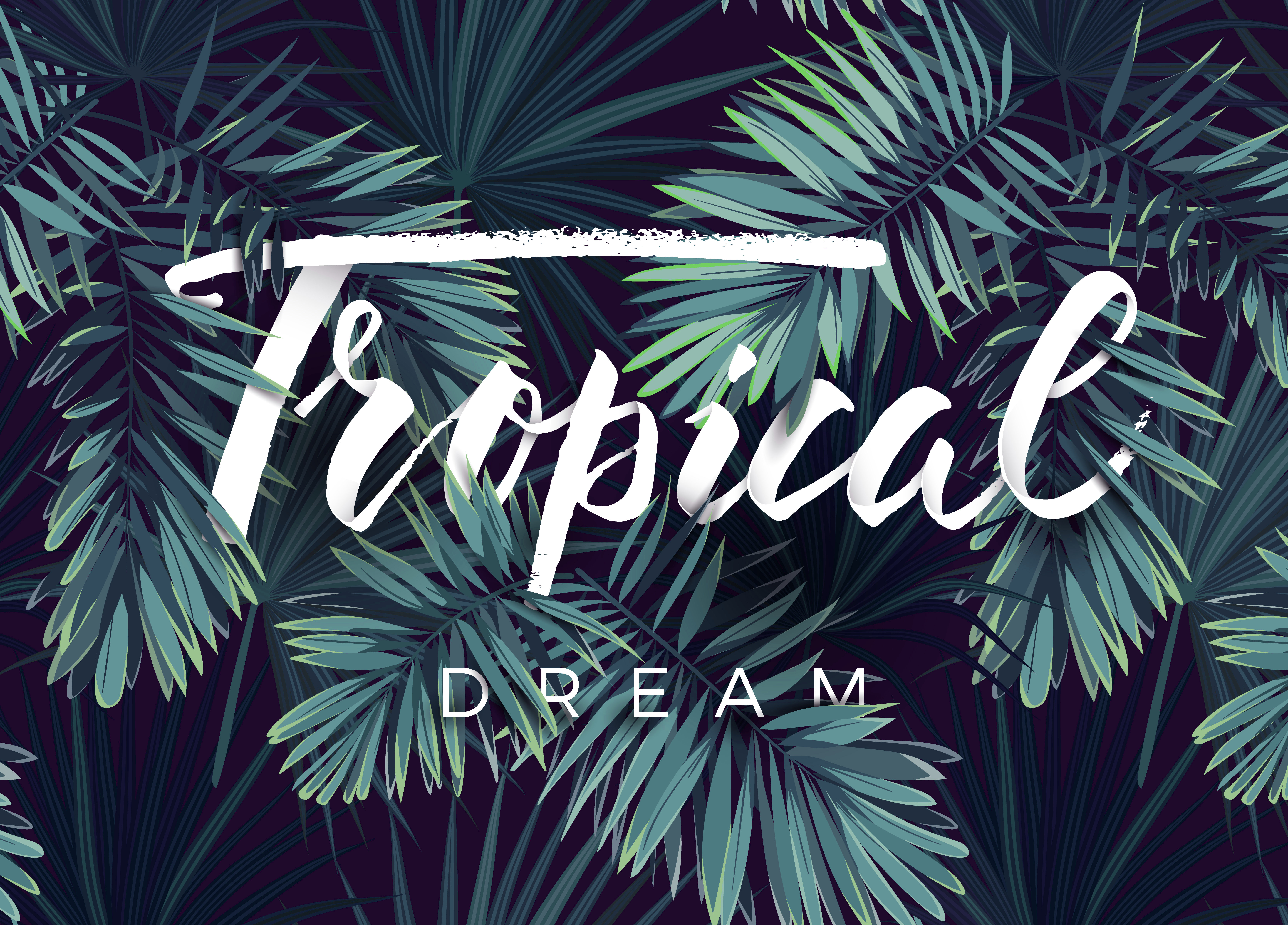 Poster satin TROPICAL DREAM