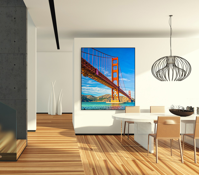 Poster photo luxe SAN FRANCISCO BRIDGE